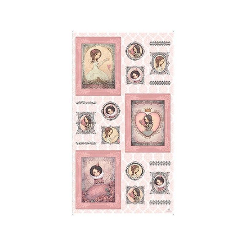 Panneau Tissu Patchwork 12 Vignettes Gorjuss All For Love