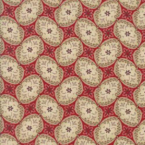 Tissu Moda Madame Rouge - médaillons - French General