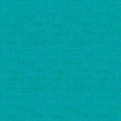 Tissu patchwork Makower -Texture lin Turquoise - Collection Linen
