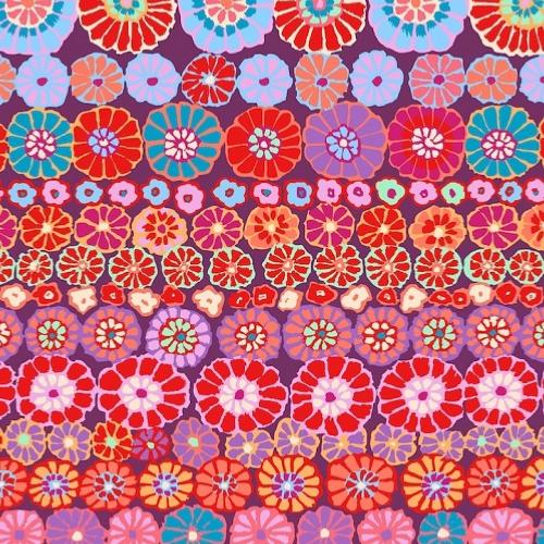 Tissu Kaffe Fassett GP169 - Row Flowers Red