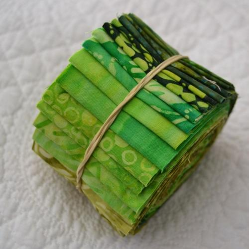 Jelly Roll Batik - Verts