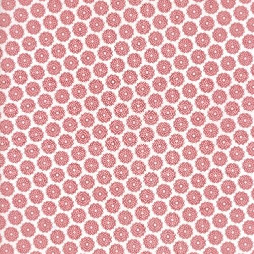 Tissu  Moda Red Project - Tissu Patchwork blanc Rosaces rouges - SOLDES