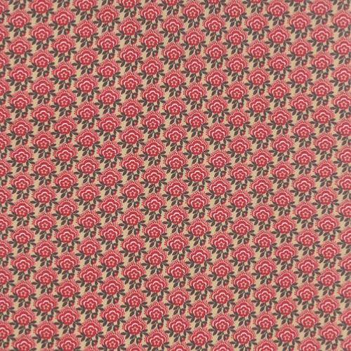 Tissu Patchwork  Moda French General - Petites Fleurs Rouges