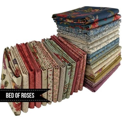 Coupons Patchwork Bed Of Roses - Edyta Sitar  – Lot de 36 coupons 24 x 55cm