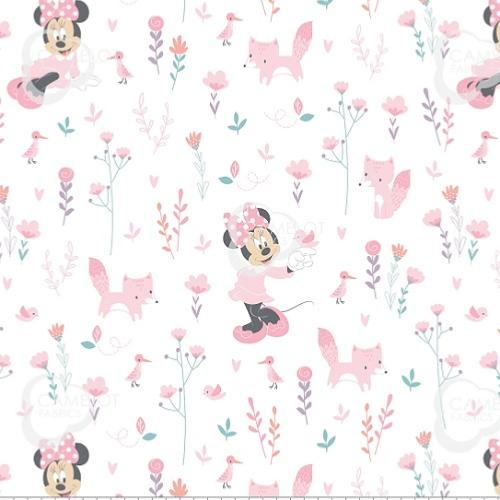 Fat de Tissu Disney - Minnie  Mouse bébé Rose