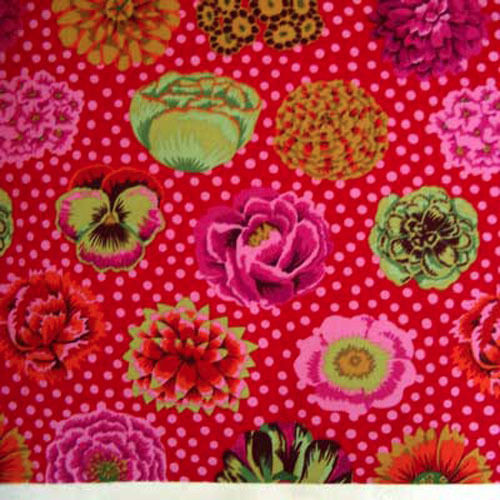 tissu patchwork kaffe fassett  big bloom red GP91