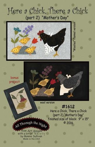 Block Of The Month - BOM Bonnie Sullivan - Here a Chick- block 2