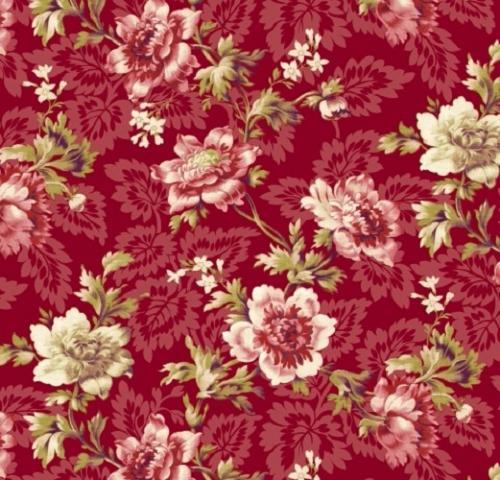 tissu windham grosses fleurs collection peyton. Black Bedroom Furniture Sets. Home Design Ideas
