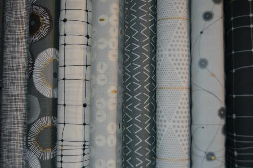 Tissus Moda Gris – Lot de 8 coupons patchwork Day In Paris