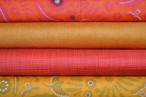 Lot de 4 coupons Patchwork Makower Orange Miel - 24x55 cm