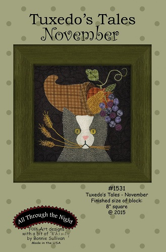 Block Of The Month - BOM Bonnie Sullivan - Tuxedo's Tales- mois de Novembre