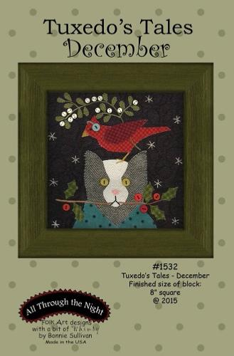 Block Of The Month - BOM Bonnie Sullivan - Tuxedo's Tales- mois de Décembre
