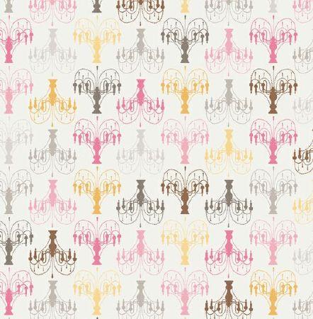 Tissu patchwork motifs chandeliers - Tissus patchwork soldes ...