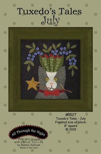 Block Of The Month - BOM Bonnie Sullivan - Tuxedo's Tales- mois de Juillet
