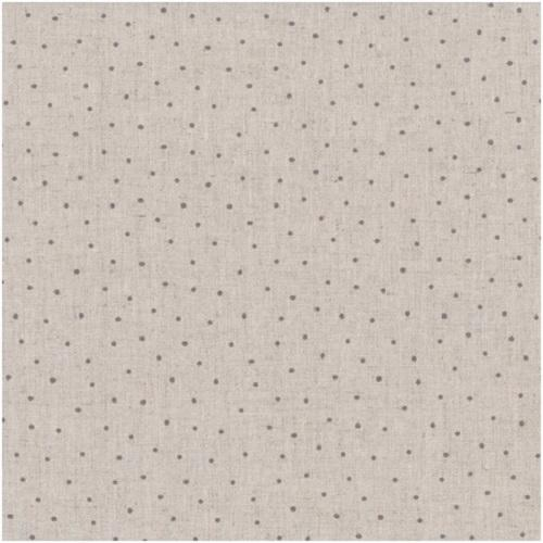 Tissu Lin - Petits Pois Gris - Collection Shabby Chic