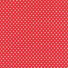 Tissu Patchwork Moda - Petits Pois blancs fond rouge - Collection Dottie