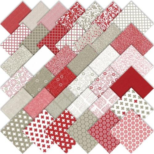 tissu patchwork moda Project Red