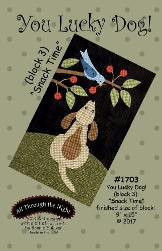 Block Of The Month - BOM Bonnie Sullivan - you lucky dog- block 3