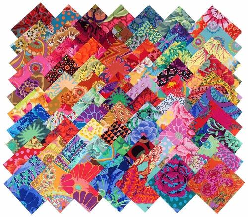 lot de 60 coupons kaffe fassett 10x10cm