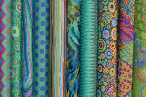 Assortiment de 12 coupons kaffe Fassett
