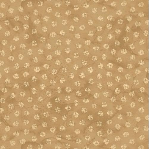 Tissu patchwork Spirales Beige - In Stitches