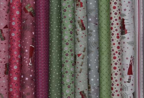 Tissu patchwork lynette anderson pas cher lot de 12 coupons collection wint - Lot tissus patchwork pas cher ...