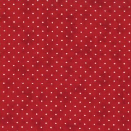 Tissu patchwork MODA essential dots Country Red