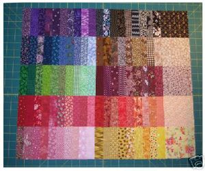 100 coupons  patchwork multicolores